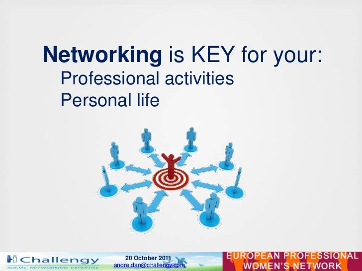 Networking is KEY for your: Professional activities Personal life            20 October 2011        andre.dan@challengy.com