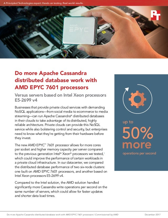 Do more Apache Cassandra distributed database work with AMD