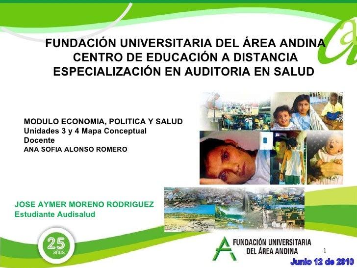 FUNDACIÓN UNIVERSITARIA DEL ÁREA ANDINA CENTRO DE EDUCACIÓN A DISTANCIA ESPECIALIZACIÓN EN AUDITORIA EN SALUD  JOSE AYMER ...
