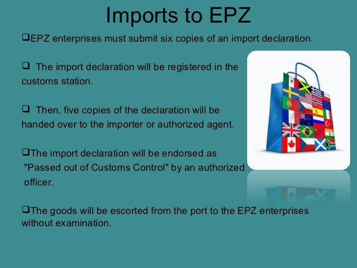 export processing zone 3 export processing zones in china i introduction export processing zones (epz) have been one of the most important components of export-promotion strategy in developing countries since the 1960s.