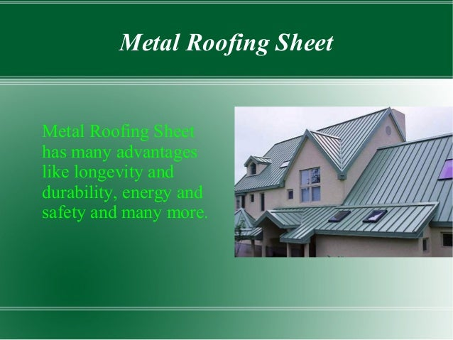 How to Choose The Best Roofing Sheets For Your Home Slide 3