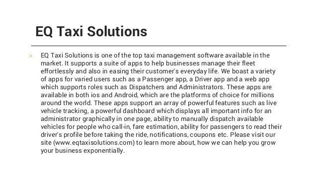 EQ Taxi Solutions - Uber Clone App