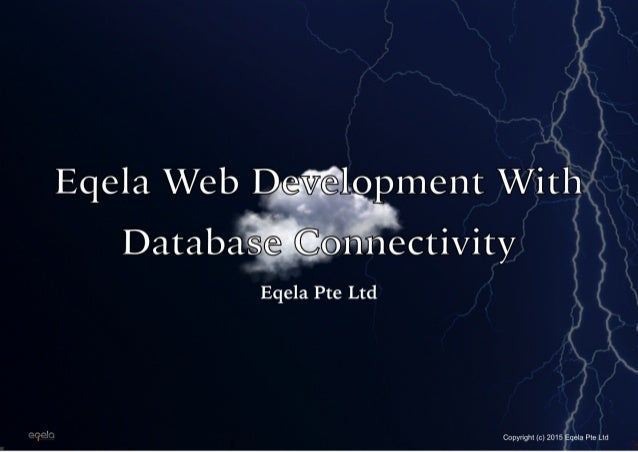 Eqela Web Development with Database Connectivity