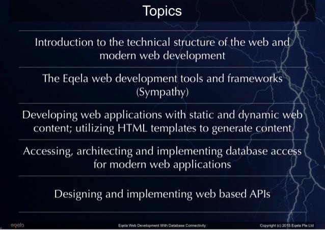 Eqela Web Development with Database Connectivity Slide 3