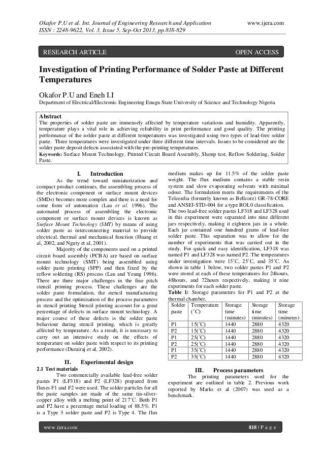 Okafor P.U et al. Int. Journal of Engineering Research and Application ISSN : 2248-9622, Vol. 3, Issue 5, Sep-Oct 2013, pp...
