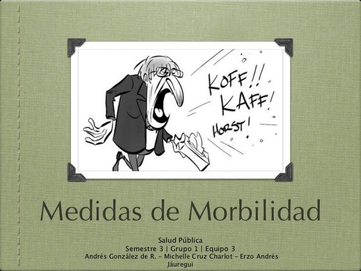 Medidas de Morbilidad                        Salud Pública               Semestre 3   Grupo 1   Equipo 3   Andrés González...