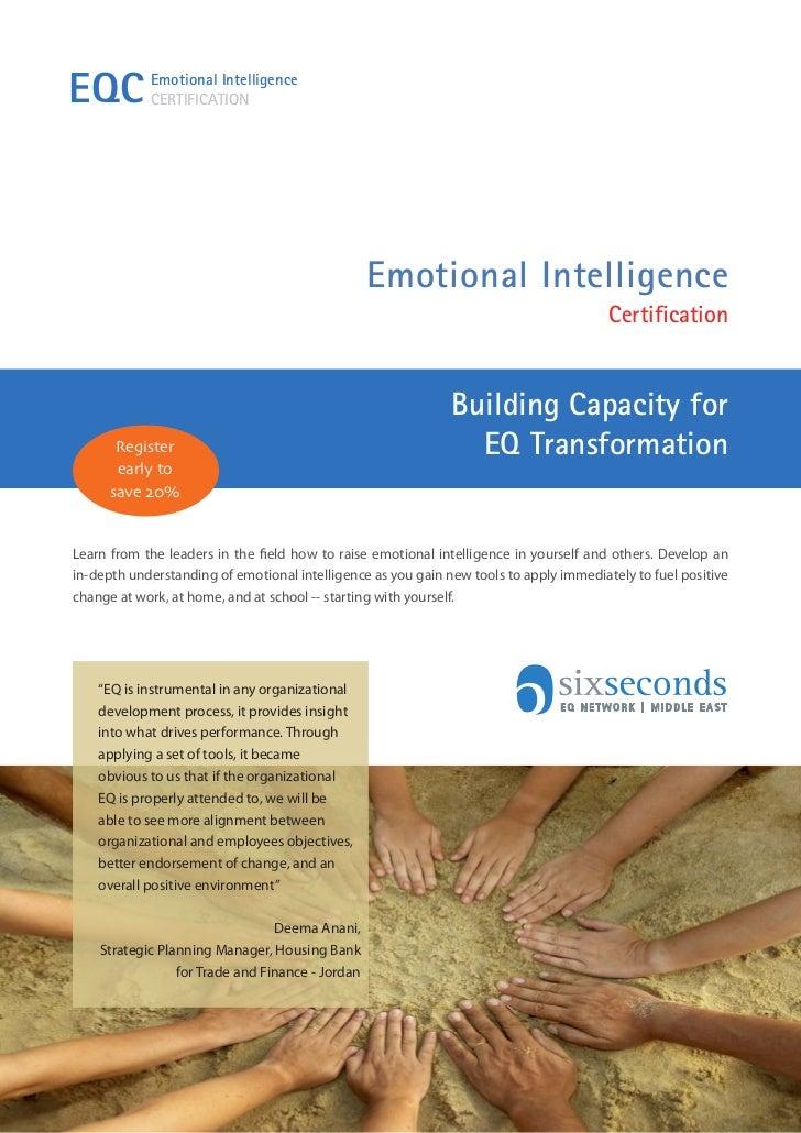 EQC         Emotional Intelligence            CERTIFICATION                                                  Emotional Int...
