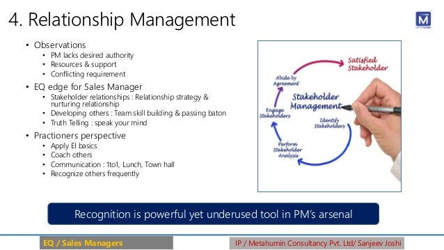4. Relationship Management • Observations • PM lacks desired authority • Resources & support • Conflicting requirement • E...