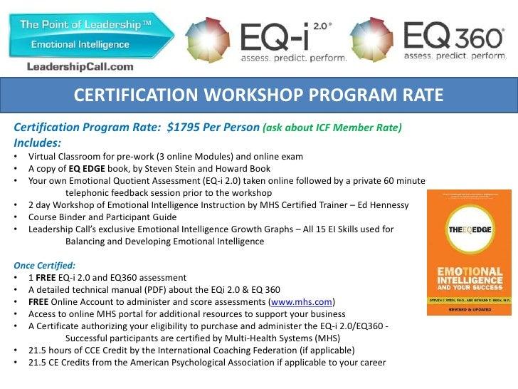 EQ-i 2.0 & 360 Certification Workshop