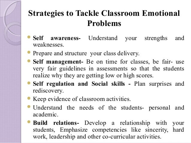 Classroom Design For Students With Emotional And Behavioral Disorders : Emotional intelligence by dr shazia zamir