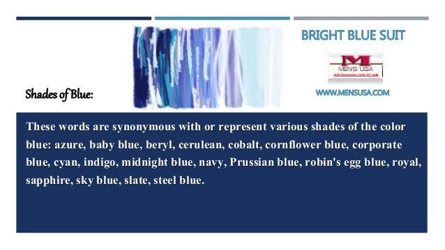 meanings of blue color bright blue suit. Black Bedroom Furniture Sets. Home Design Ideas
