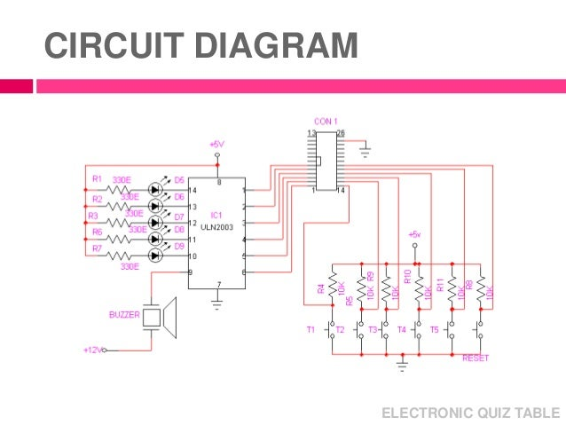 micro processor mini project electronic quiz table rh slideshare net electronic quiz board circuit diagram