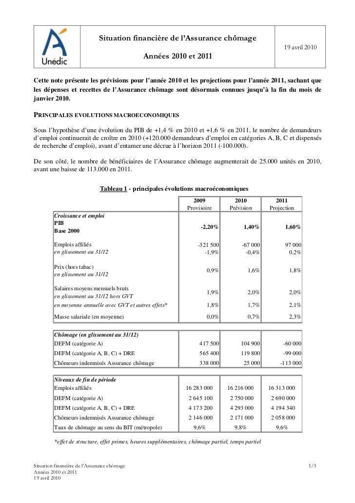 Situation financière de l'Assurance chômage                                                                               ...