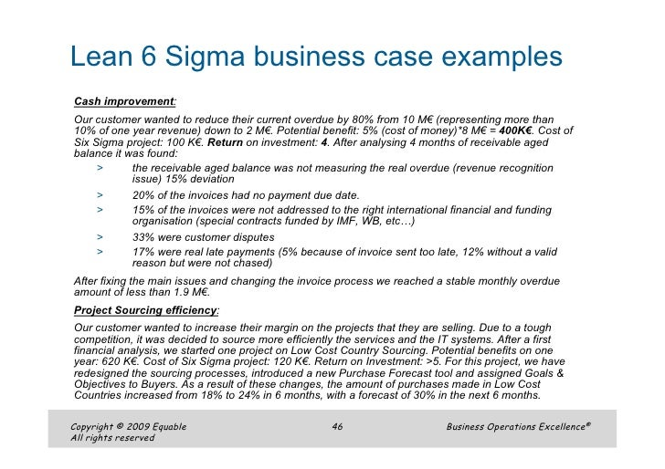 Six Sigma Performance