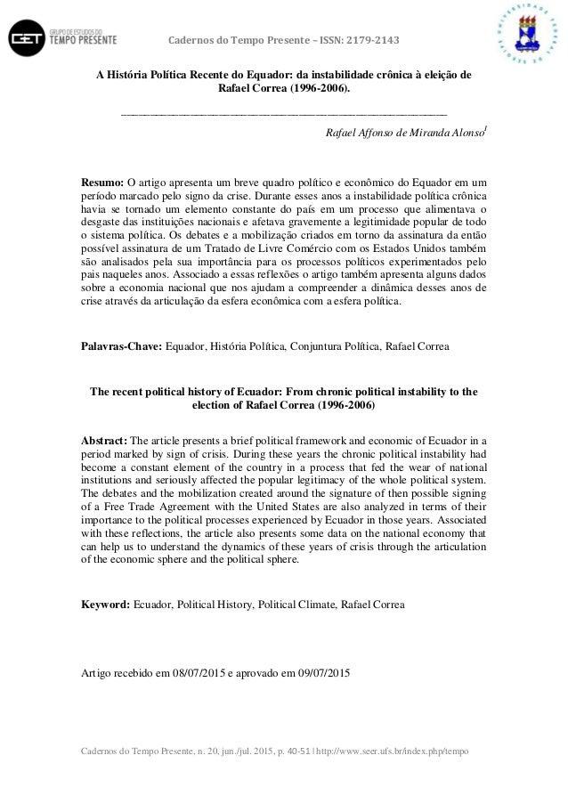 Cadernos do Tempo Presente – ISSN: 2179-2143 Cadernos do Tempo Presente, n. 20, jun./jul. 2015, p. 40-51 | http://www.seer...