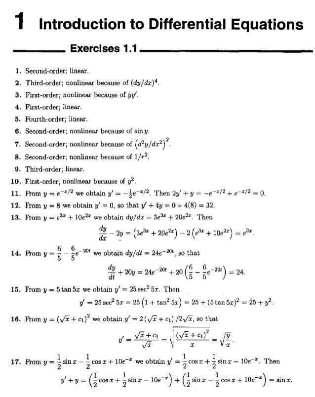 Equaçõe diferenciais   zill resolução