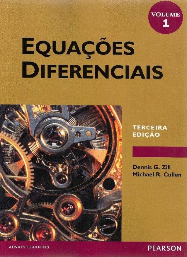 Equações diferenciais   dennis g. zill vol 01