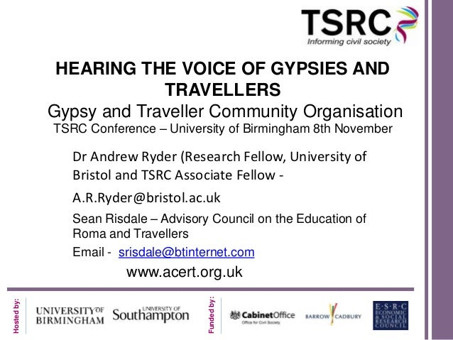 HEARING THE VOICE OF GYPSIES AND                          TRAVELLERS             Gypsy and Traveller Community Organisatio...