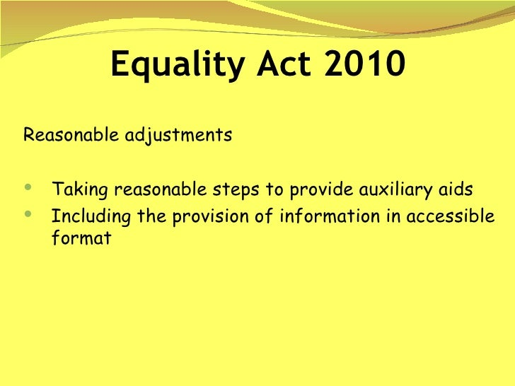 examples of reasonable adjustments There are many examples of how a child who there was held to be a breach of the duty to make reasonable adjustments it was reasonable to recruit support.