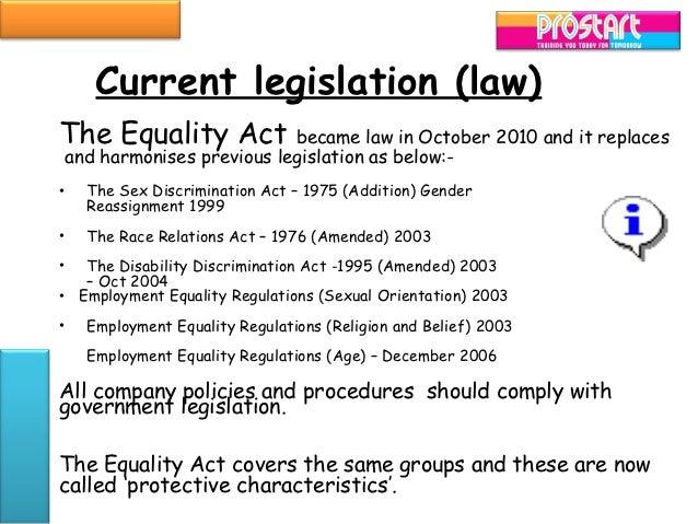 Sex discrimination act amendment 2003