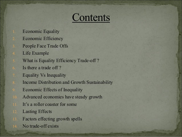 economic equality examples