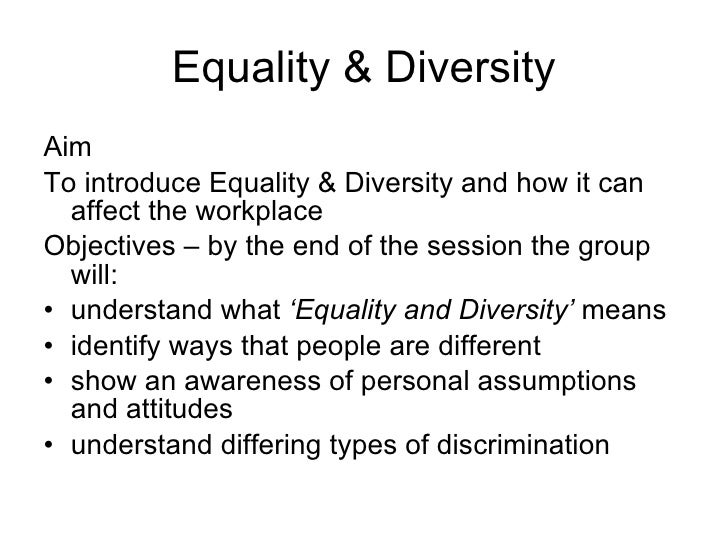 diversity and equality essays