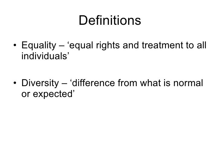 explain the meaning of equality diversity and inclusion