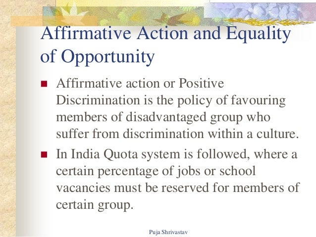 equality of opportunity in india