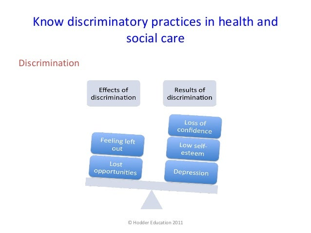 Equality and Inclusion in Health, Social Care or Children and Young People's Settings Essay Sample