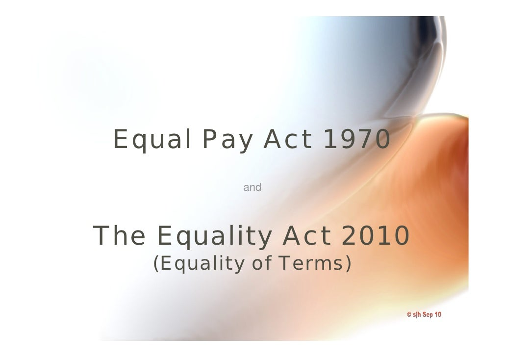 Unequal Pay for Equal Work (Essay)