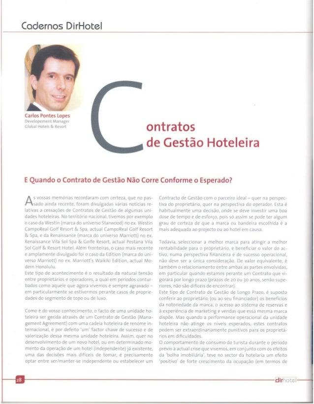 Contratos de Gestão Hoteleira - E Quando o Contrato de Gestão Não Corre Conforme o Esperado? by CPL@DirHotel