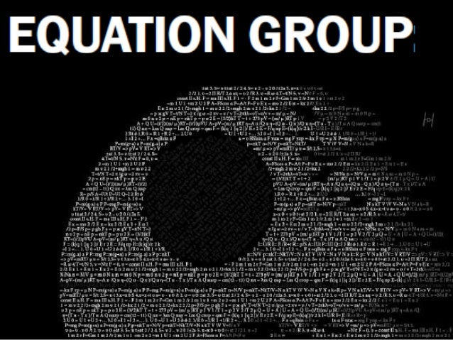 "This presentation is based on a report by KASPERSKY by the name of the "" EQUATION GROUP: QUESTIONS AND ANSWERS"""