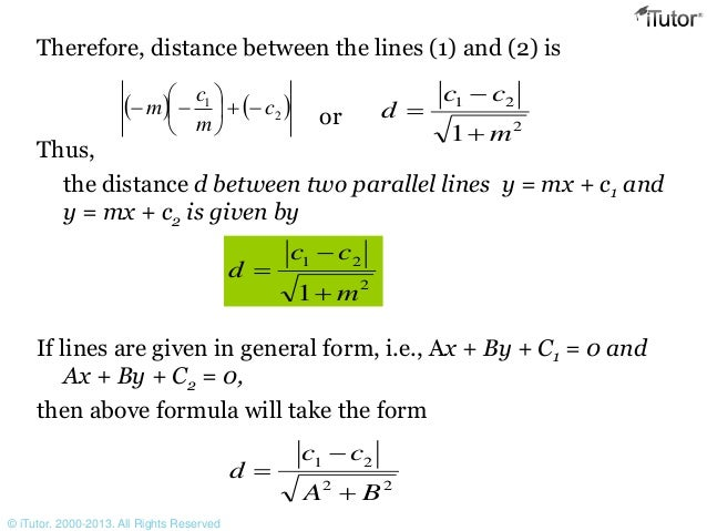 Equation of Strighjt lines
