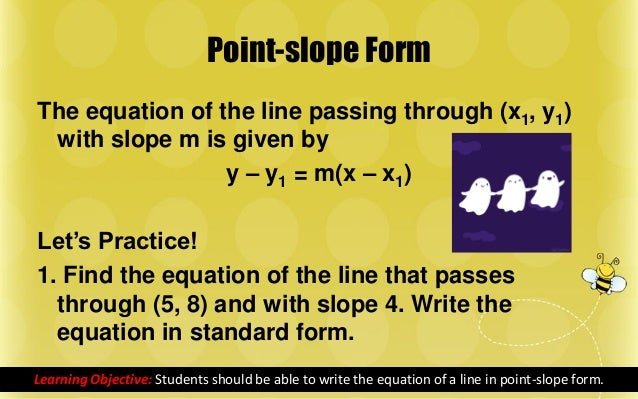 Equations Of A Line