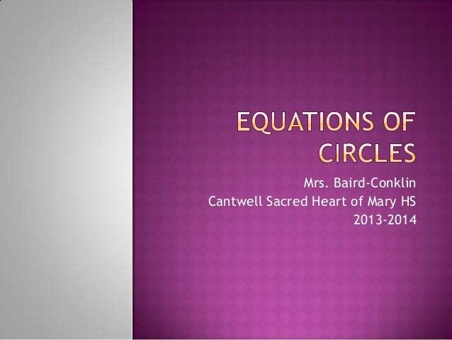 Mrs. Baird-Conklin Cantwell Sacred Heart of Mary HS 2013-2014