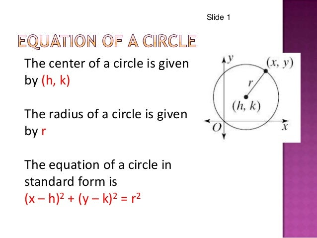 Equations Of Circles Power Point