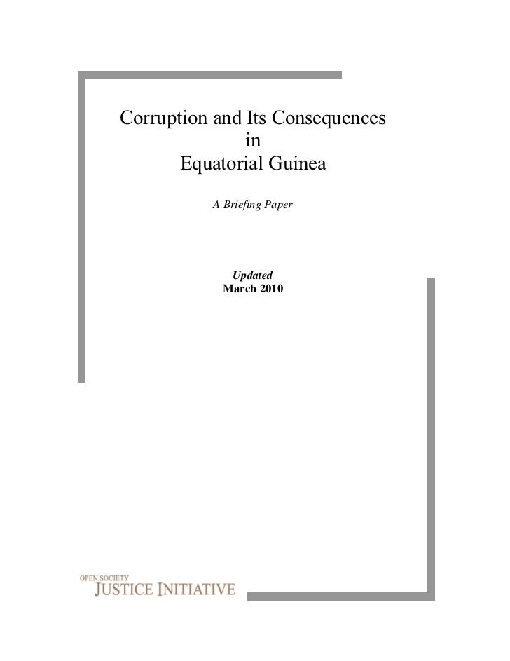 Corruption and Its Consequences               in       Equatorial Guinea          A Briefing Paper             Updated    ...
