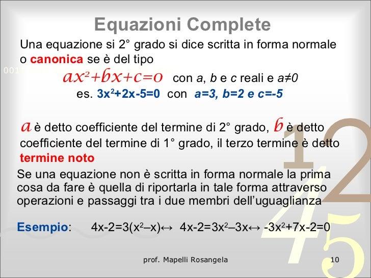 Equazioni di 2° grado