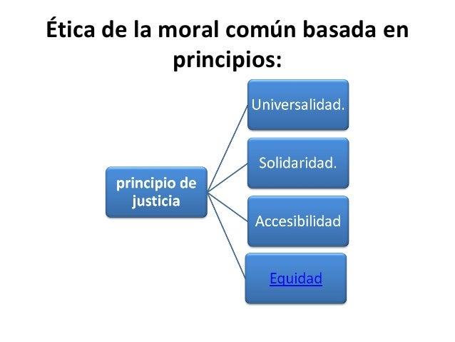 Ética de la moral común basada en principios:
