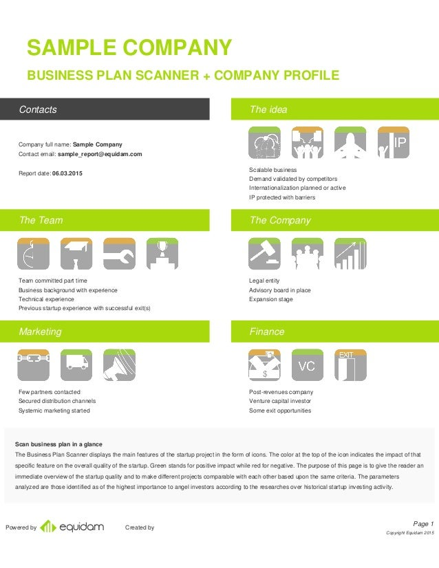 Powered By Created By SAMPLE COMPANY BUSINESS PLAN SCANNER + COMPANY PROFILE  Contacts Company Full Name ...
