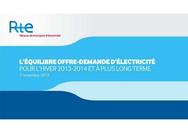 Equilibre offre-demande d'électricité