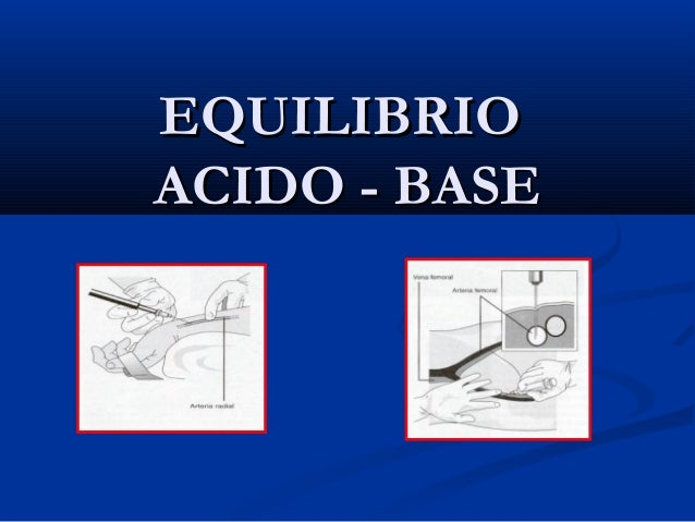 EQUILIBRIOEQUILIBRIO ACIDO - BASEACIDO - BASE