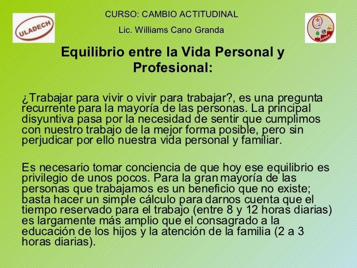 Equilibrio entre la Vida Personal y Profesional: ¿Trabajar para vivir o vivir para trabajar?, es una pregunta recurrente p...