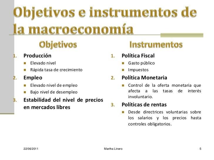 1.   Producción                             1.      Política Fiscal        Elevado nivel                                ...