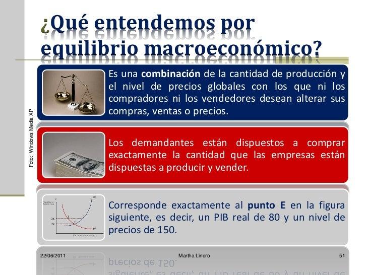 ¿Qué entendemos por                         equilibrio macroeconómico?                                      Es una combina...