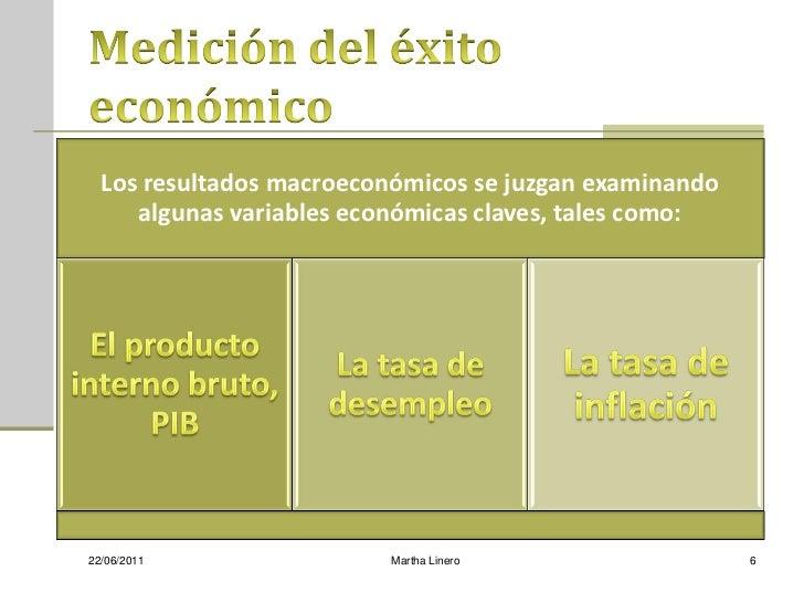 Los resultados macroeconómicos se juzgan examinando     algunas variables económicas claves, tales como:22/06/2011        ...