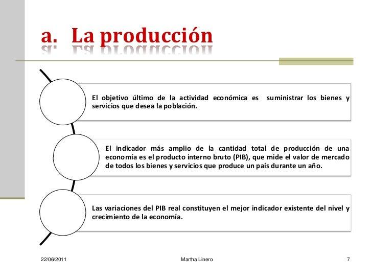 a. La producción             El objetivo último de la actividad económica es        suministrar los bienes y             s...