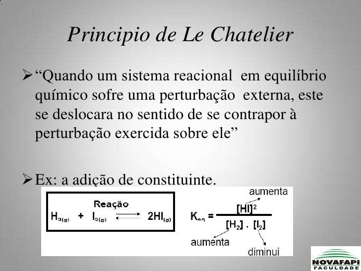 A velocidade reação inversa v2, é a função das concentrações  C e D na mistura reacional:</li></ul> V₂ = k₂ [C].[D]<br />