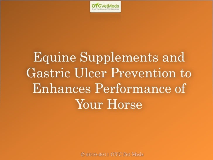 Equine Supplements andGastric Ulcer Prevention to Enhances Performance of        Your Horse        © 2010-2011 OTC Pet Meds