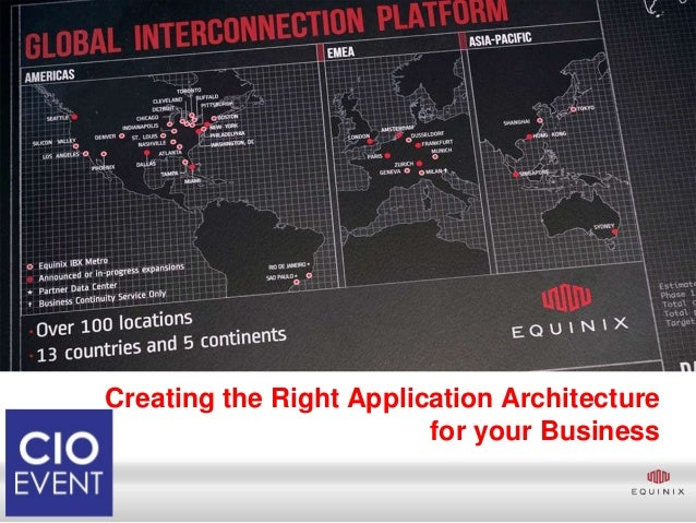 Creating the Right Application Architecture                         for your Business